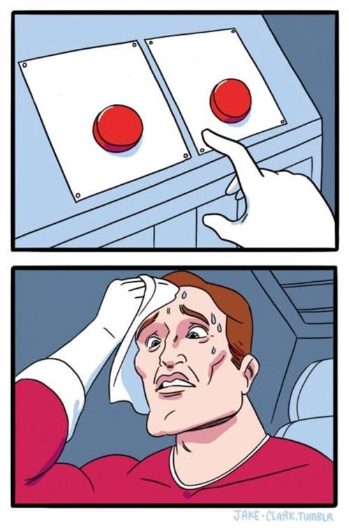 Decidir qué botón pulso