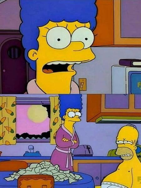 Marge Simpson habla con Hombre