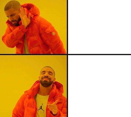 Plantilla de meme del raper Drake