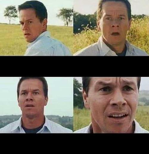 Mark Wahlberg mezcló la plantilla de memes