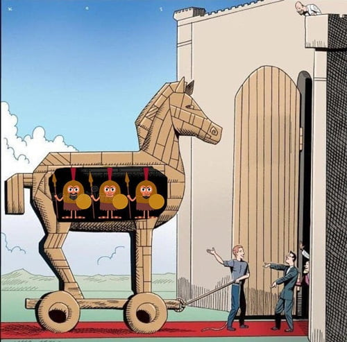 Lo que esconde el caballo de Troya