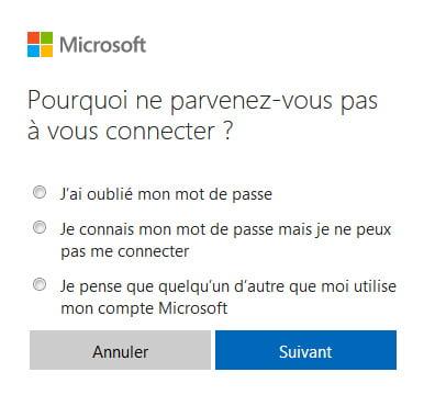 Outlook.com: olvidé mi contraseña